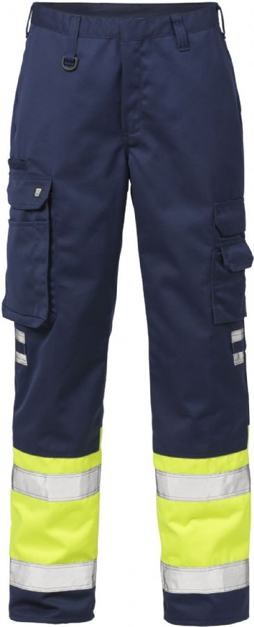 Fristads High Vis Trousers CL 1 213 PLU(Hi Vis Yellow/Navy)